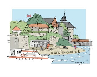Oslo Norway Harbor Fine Art Print 2 sizes