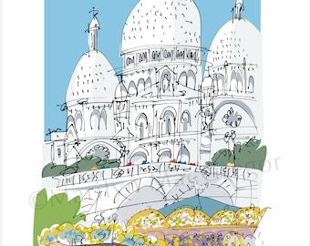 Paris: Sacre Coeur Montmartre fine art print in 2 sizes