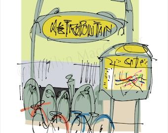 Paris: The Metro fine art print in 2 sizes