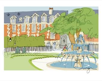 Paris: Place des Vosges fine art print in 2 sizes