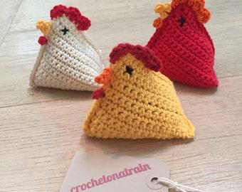 Crochet Chicken Bean Bag