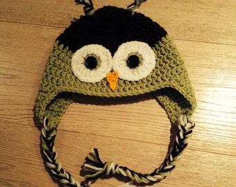Crochet Owl Hat