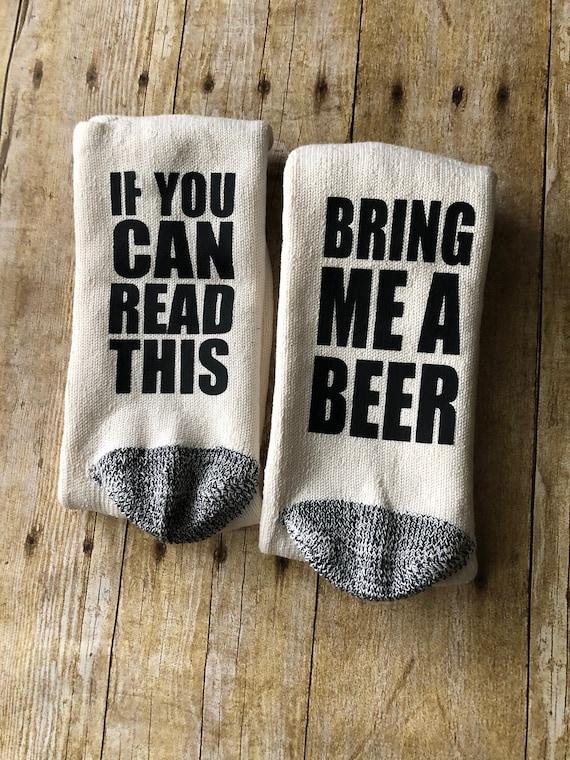 un'altra possibilità presentando bella vista Calze di birra - Portami un birra Socks - Calzini divertenti - Gag regalo -  papà regalo - Stocking Stuffer
