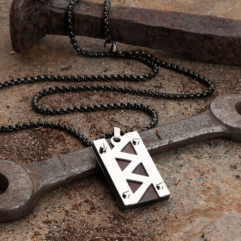 30fc74e3f50 Jagged Bolt Men s Necklace by KAVALRI