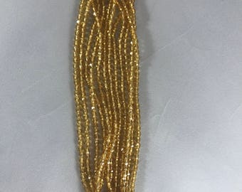 Firepolished Beads 4MM Silver Lined Topaz 50pc
