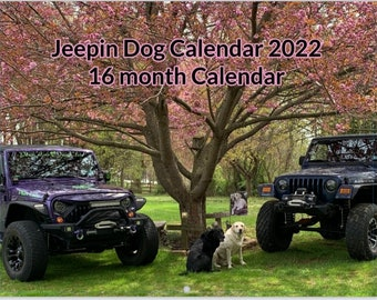 2022 Jeepin Dog Calendar 16 month