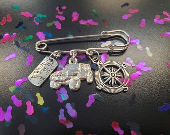 Jeep pin brouch - 3 charm