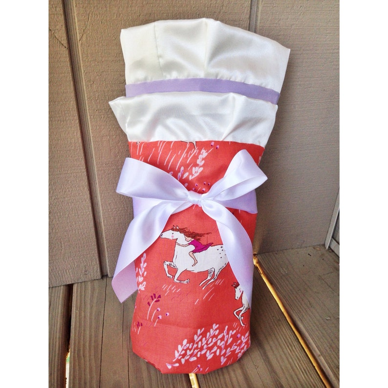 Gorgeous Wee Wander Coral Horse by Sarah Jane Baby Blanket Cotton and Jersey Baby Blanket