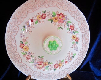 Royal Doulton Rhapsody D6124 Replacement Lid for Round Covered Vegetable Bowl - 9 in. - England - Vintage 1950's