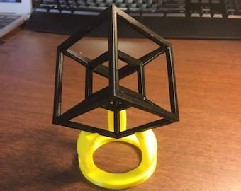 3D Printed 4-Dimensional Tesseract Hypercube Model