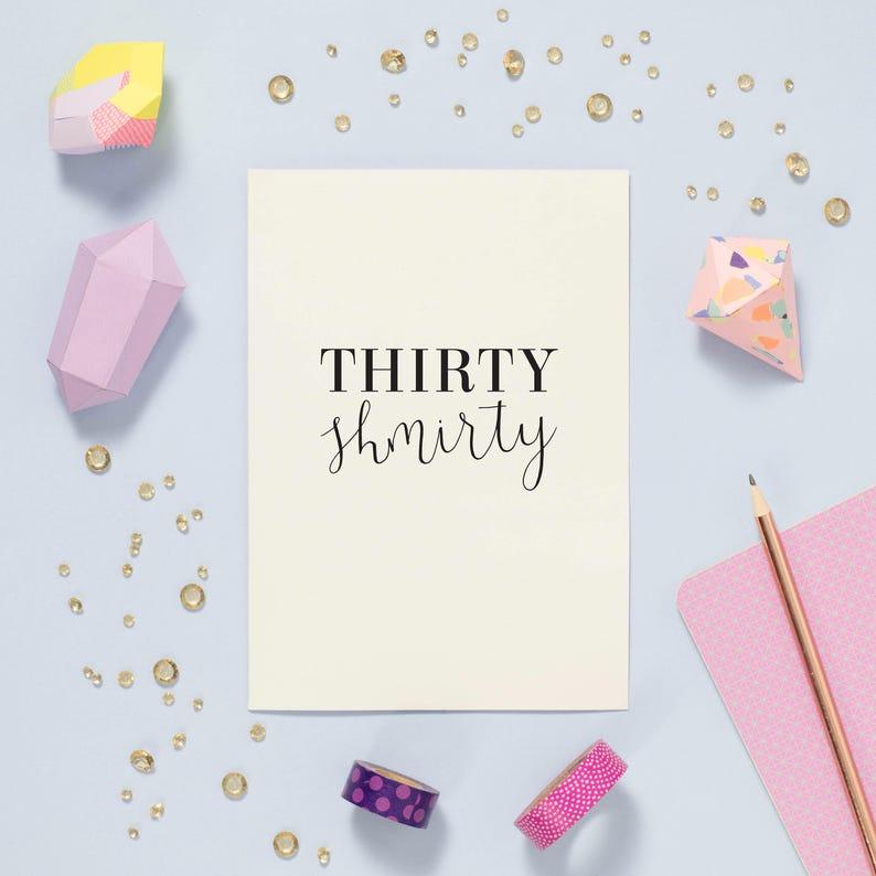 30th Birthday Card Funny Thirtieth