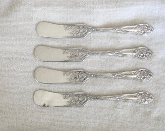 Reed and Barton George and Martha Pattern Sterling Silver Salad Serving Set of Utensils-Vintage 1941-Excellent Condition!