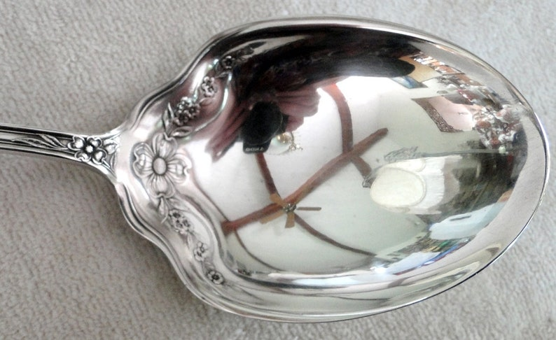 Sears and Roebuck DUNBAR pattern Large Berry or Casserole Serving Spoon-Vintage 1900-10