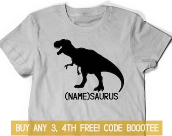 3f02c8370 Dinosaur Shirt Custom T-Shirt Gift T-Rex Dad Tee Kids Boy Girl Women Men  Birthday Party Personalized Dino Saurus Trex Son Uncle Papa Mama
