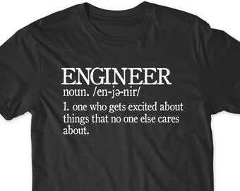 e982a45b2e Funny Engineer T-Shirt T Shirt Gift Idea Tees Men Ladies Women Funny  Present Engineering Dad Father Husband Wife Boyfriend Graduate Math