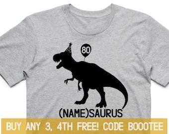 80th Birthday Shirt Funny Tshirt T Tee Bday Men Women Ladies Gift Present Turning 80 Years Old Husband Wife 1939 Rex Tyrannosaurus