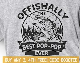 92a823fea Pop-pop Gift Fishing Shirt Fathers Day Gift for Grandpa Tshirt Dad Funny Shirts  Tee Men Fisherman Daddy Granddad Fish Bass Hunter Poppop Pap