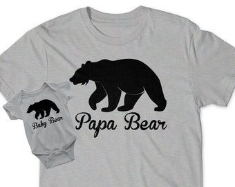 0aac69998 Gift Idea for Dad Papa Bear Baby Bear Set Bear Cub Matching Pop T-Shirt  Infant New Toddler Child Kid Dad Baby Shower Daddy Pop Dad Reveal