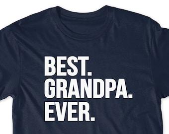8eb80b73ec16 Gift for Grandpa Best Grandpa Ever Shirt Idea Pregnancy Announcement Shirt T -Shirt T Shirt Tees Mens Papaw Present Awesome Funny Papa Pops