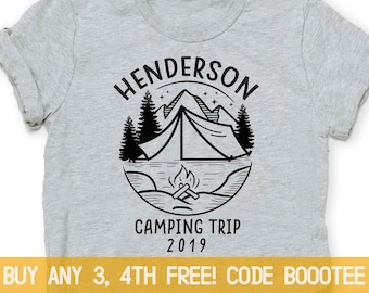 6120d7414 Camping Shirts for Family Friends T-Shirt T Shirt Tee Ladies Toddler Men  Kids Women Boy Girls Trip Custom Personalized Dad Fathers Day Gift