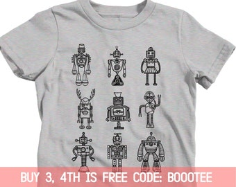 1be10edcd Robot Shirt Adults Kids Toddler T-Shirt T Tee Funny Dad Kid Nephew Son  Daughter Birthday Party Favors Girl Boy Robotics Stem 1st 2nd 3rd