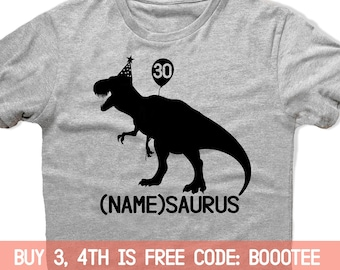 30th Birthday Shirt Funny Tshirt T Tee Bday Men Women Ladies Gift Present Turning 30 Years Old Husband Wife 1988 Rex Tyrannosaurus