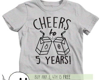 5th Birthday Shirt Adults Kids Toddler T Tee Fifth Bday Turning Five 5 Years Old Nephew Son Daughter Party Favors Girl Boy
