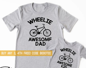 b00ae8d4 Daddy Shirt Fathers Day Gift for Dad and Me TShirts Biking Matching Tees  Dad and Son Daughter Father Bicycle Bike Cycling Cyclist Bicycling