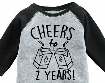 2nd Birthday Shirt Adults Kids Toddler T Tee Second Bday Turning Two 2 Years Old Nephew Son Daughter Party Favors Girl Boy