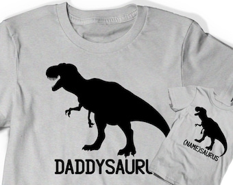 019997fab Fathers Day Shirt Gift for Dad Shirt Daddy and Me Baby Shirts Daddysaurus  Father Set T-shirt Tee Men Infant Dad to be Pregnancy Announcement