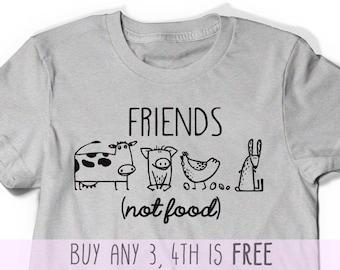 Ladies Animal Rights Christmas Present Gift Vegan Inside Funny Womens T-Shirt