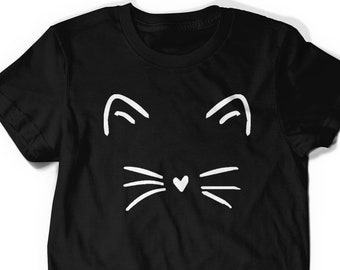 a2ce73b15 Valentines Day Shirt Cute Cat Kitty Kitten T Shirt Tee Mens Womens Ladies  Funny Present I Love Cats Animal Lover T-shirt Whiskers Face