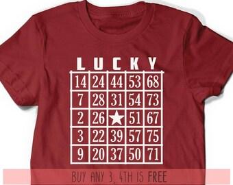 b1278789 Bingo Gift Idea Shirt Christmas Present Grandma Grandpa Father's Day T-Shirt  T Shirt Tee Men Funny Gift Present Game Gamer Lucky Shirt