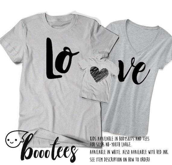 New Childs T Shirt Kids I Love My Mummy Daddy Toddler Child Tee Love heart