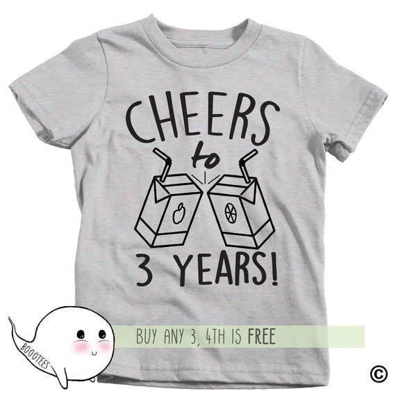 3rd Birthday Shirt Adults Kids Toddler T Tee Third