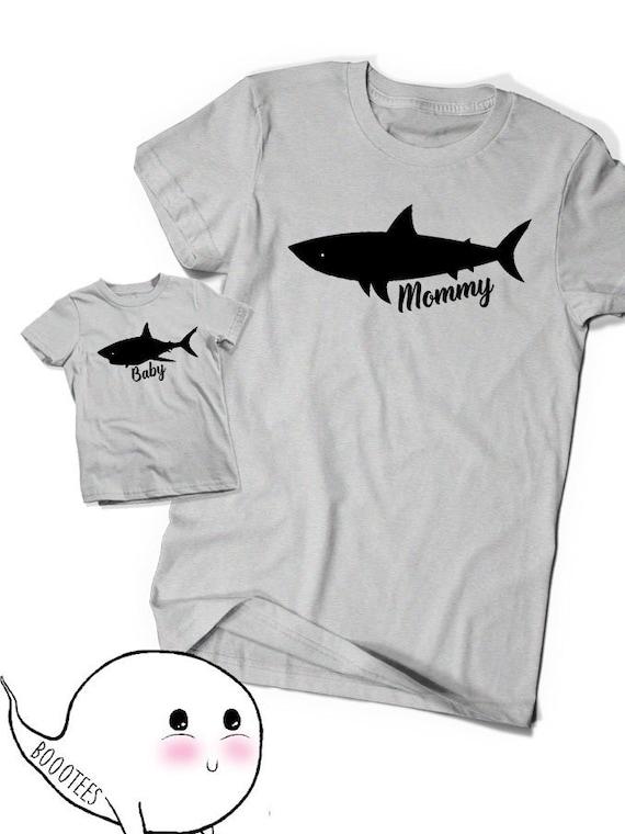 929dc6420 Mommy Shark Baby Matching Shirts Women Ladies Tees T-shirt