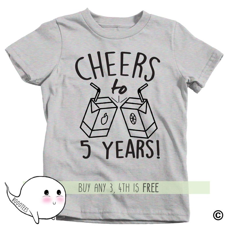 5th Birthday Shirt Adults Kids Toddler T Tee Fifth