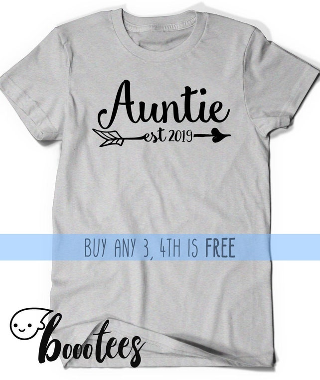 Auntie Shirt Est Since 2019 Shirt T-shirt Aunt to be Gift | Etsy