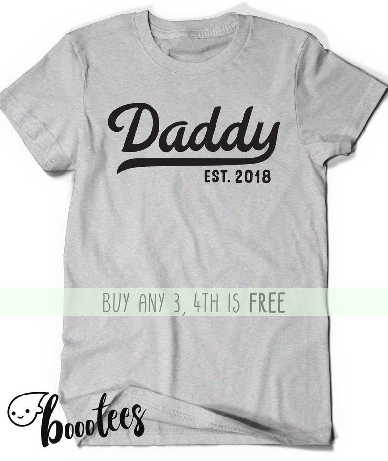 73b655ea2 Daddy Shirt Est Since 2018 Father Day Gift Idea T Shirt Tee | Etsy