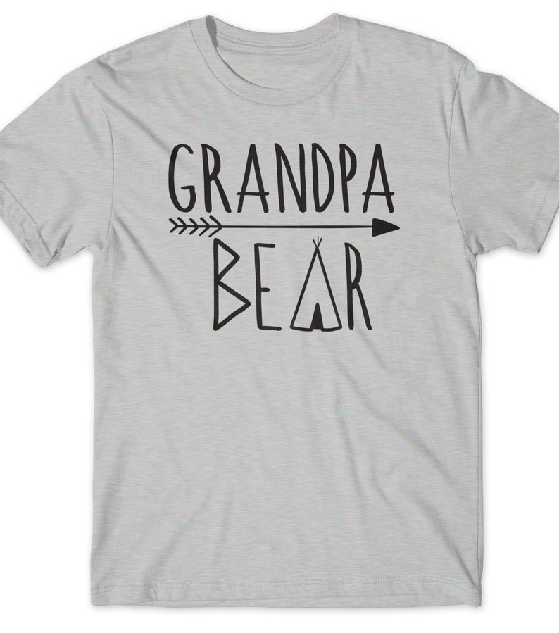 ea3346f3 Grandpa Bear Shirt T-Shirt Fathers Day Gift T Tee Mens Humor | Etsy