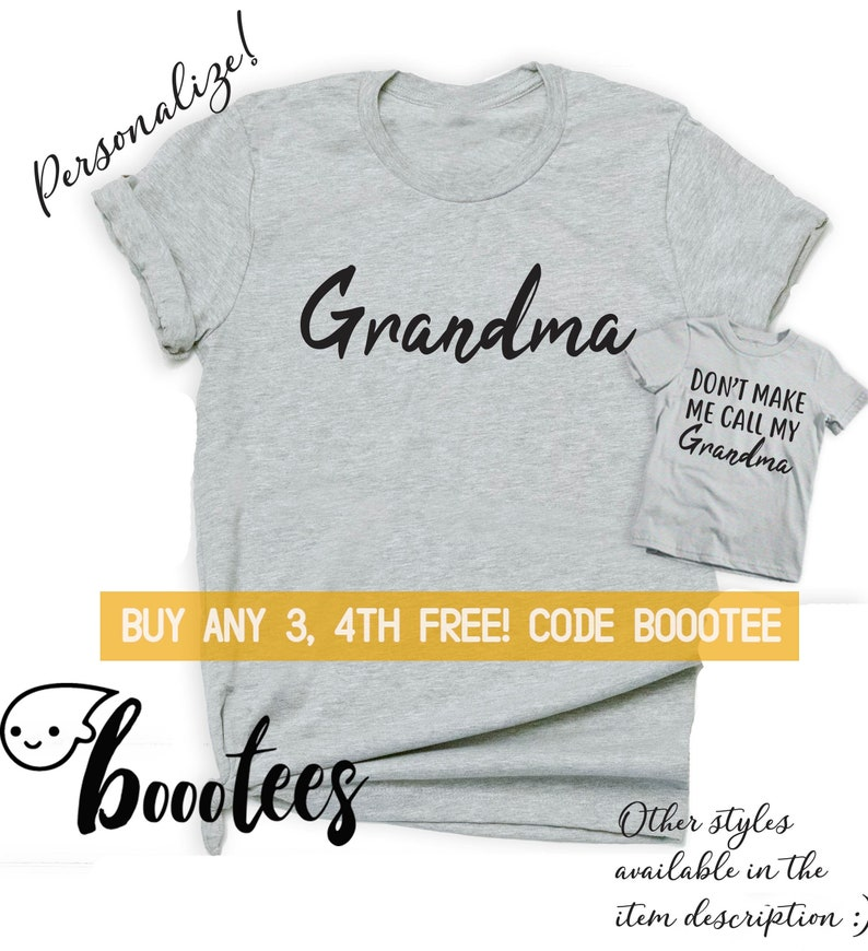 0dafe0c8 Grandma Shirt Gift for Mothers Day Shirts Funny Matching   Etsy