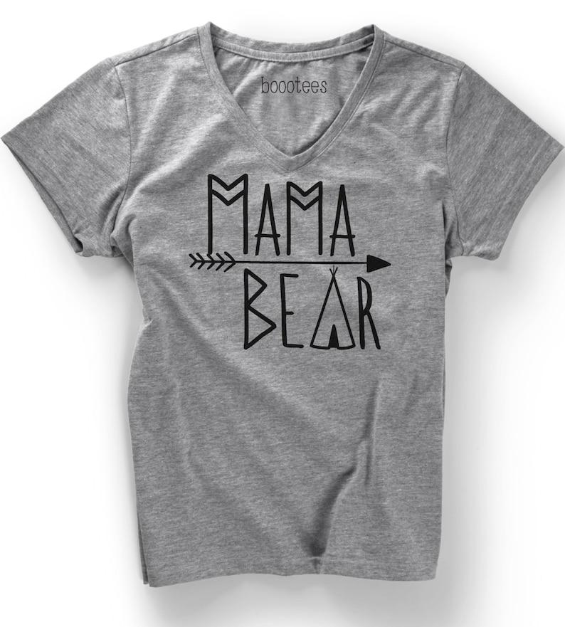 28f3605d Mama Bear V-neck Soft Triblend Mother Shirt T Shirt Tee Women   Etsy