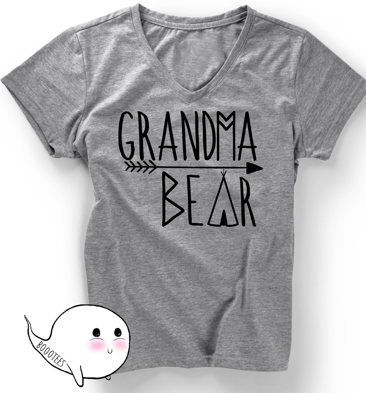 d5f57480 Grandma Bear T-Shirt TShirt Mother Shirt Tee Pregnancy Announcement Women  Ladies Funny Gift Present Grammy Grandmom Grandmother Baby Shower