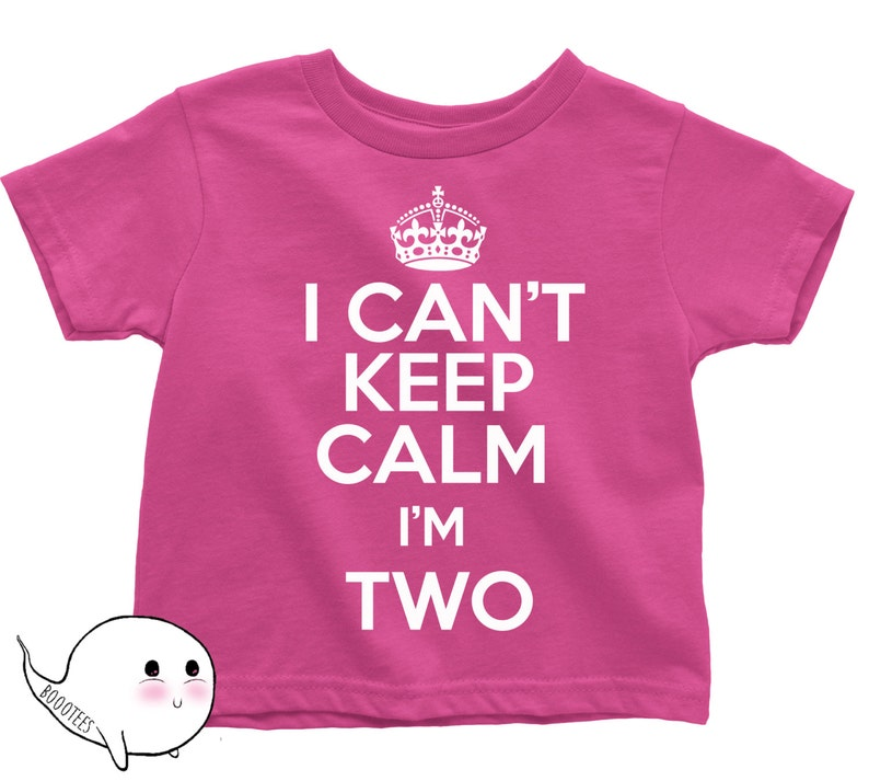 2nd Birthday Shirt I Cant Keep Calm Im Two T