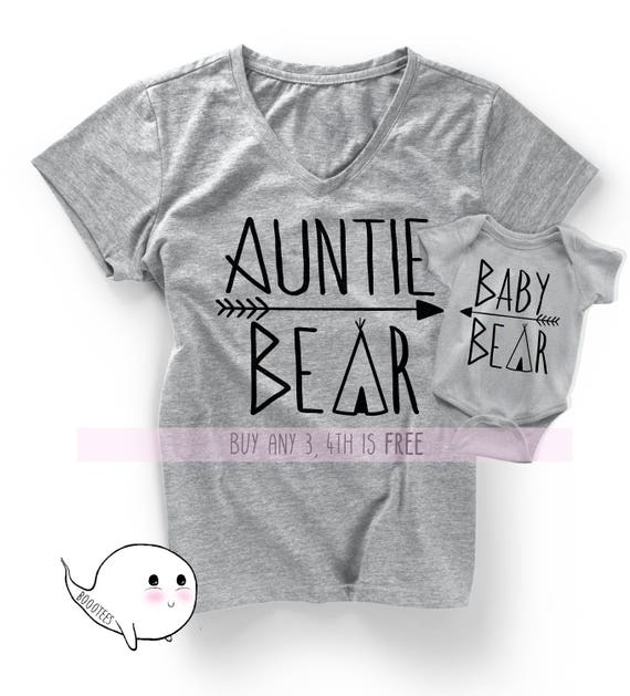 0fd2d3c76 Gift for Aunt Matching Auntie Nephew Niece Shirts Tees T-shirt