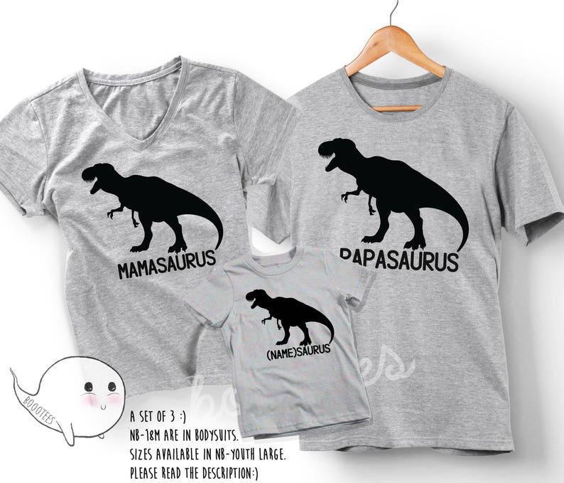 e2cf451a5 Mamasaurus Papasaurus Shirts Matching Family T-shirt Daddy | Etsy