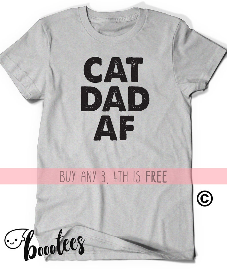a88c2aa0 Fathers Day Shirt Gift Idea Cat Dad AF T-Shirt TShirt Tee | Etsy