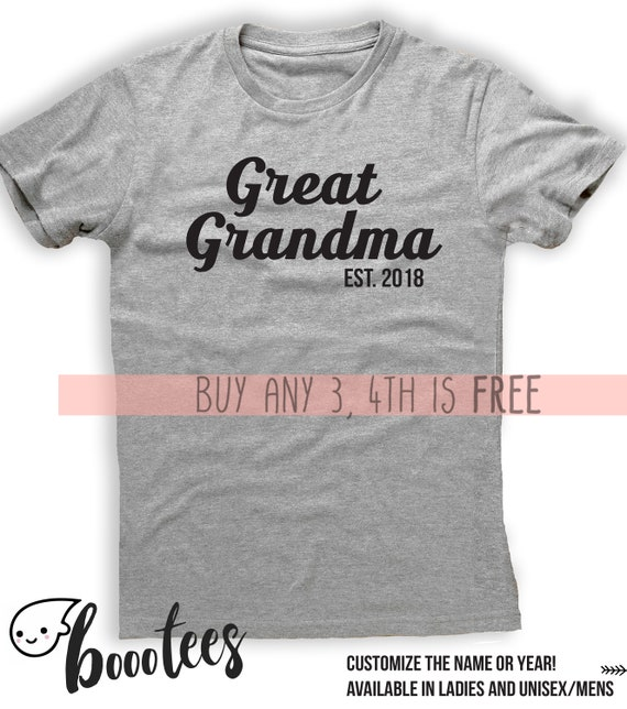 eab42bd8 Gift For Great Grandma Custom Mother Gran Shirt t-Shirt Tee   Etsy