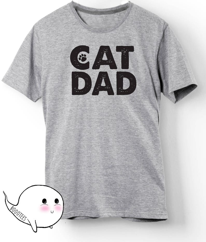 ccfc2c14fb9 Gift for Him Dad Father Cat Gift Idea Cat Dad T-Shirt TShirt