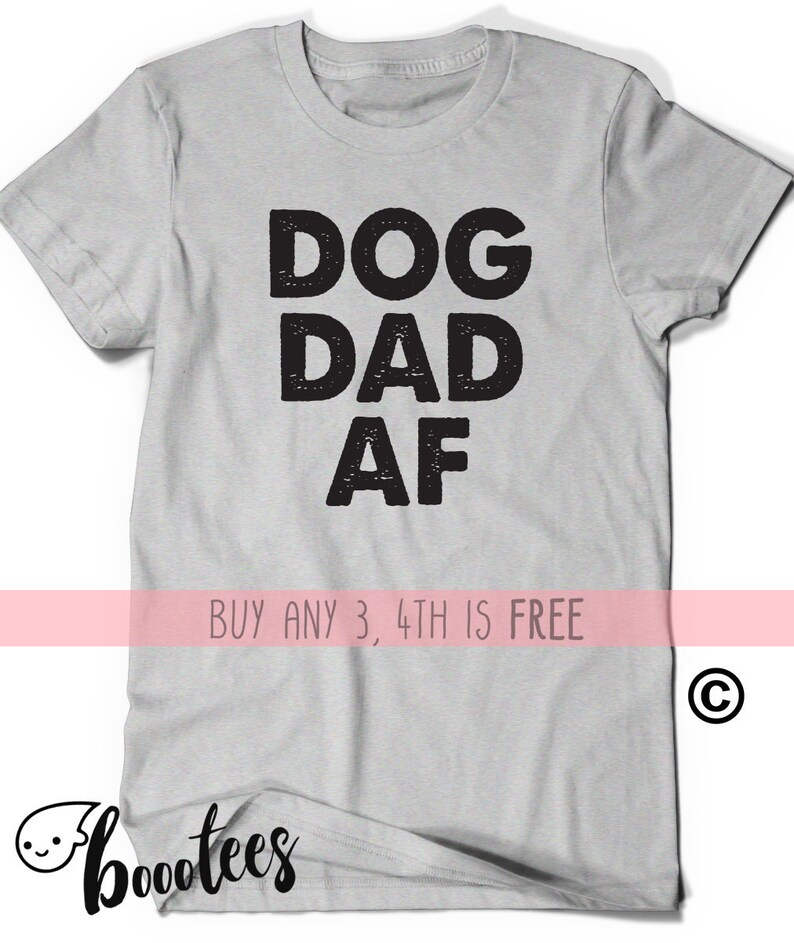2769da71 Fathers Day Shirt Gift Idea Dog Dad AF T-Shirt T Shirt Tee   Etsy
